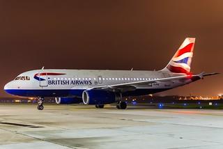 British Airways G-EUPW Night HAJ