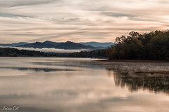 Morning on the lake (Irina1010) Tags: lake chatugelake morning sunrise water reflections fog mountains sky clouds mist nature canon outstandingromanianphotographers ngc npc