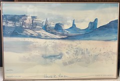 St. Vincent De Paul Thrift Shop In Tucson, AZ <<>> Santa Fe, New Mexico <<>> Signed by Harold E. Larsen <<>> (Chic Bee) Tags: stvincentdepaul thriftshopart santafe newmexico signedbyharoldelarsen signed haroldelarsen pale lovely art pastel atypical thanksgiving treasure artist