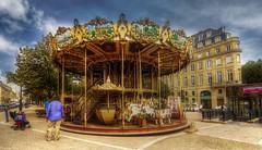 Les Chevaux de Bois - 4193 (YᗩSᗰIᘉᗴ HᗴᘉS +10 000 000 thx❀) Tags: fête bordeaux france aquitaine carrousel sky hdr 3exp gironde fr hensyasmine yasminehens
