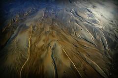La Terre vue du ciel... non juste du sable mouillé! (kate053 (en vacances!) Tags: sable mer plage or bleu delta terre