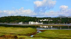 Ynys & the River Glaslyn (Joan's Pics 2012) Tags: ynys riverglaslyn porthmadog coastal saltmarsh rivulets scenic takeninwales estuary reflextions explore