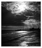 Moonlight beach (spencerrushton) Tags: spencerrushton spencer rushton 5dmkiii 5dmk3 canon5dmkiii 1635mm wide widelens southsea beach moon sky sea seaside outdoors night nature beautiful blackandwhite black walk white manfrotto manfrottotripod monochrome clouds pretty hampshire sunlight sunrays