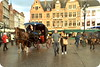 Market Square, Brugge (Bruges), Belgium. (Manoo Mistry) Tags: nikon nikond5500 tamron tamron18270mmzoomlens belgium brugge bruges holiday tourism tourist street marketsquare horse horsecarriage people
