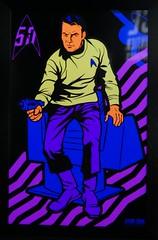 Star Trek at MoPop (bballchico) Tags: startrek mopopmuseumofpopculture seattle seattlecenter livelongandprosper neon blacklite captainjamestkirk