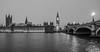 a wet night in london (paul hitchmough photography 2) Tags: london longexposure longexpoureatnight riverthames bigben river blackandwhite monochrome bw nikond800 nikonphotograhy wideangle waterfall bridge