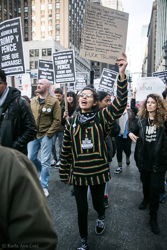 Refuse Fascism, on the march
