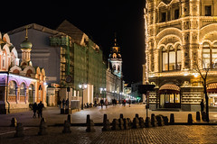 Night Moscow. (Oleg.A) Tags: night redsquare church megalopolis city bell red palace tower orthodox black cross wall yellow moscow landscape cathedral kremlin old brick gold materials town colorful interior russia autumn outdoor building nature dome architecture oldtown orange antique