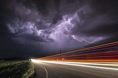 Storm in Motion (John Finney) Tags: motion storm thunderstorm lightning kansas juggernaut truck