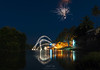 Fireworks on full-moon night (ramakatre) Tags: fullmoon night river oillamps fireworks reflection bluehour water landscapes travel 5ds