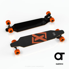 a09_D (omardex) Tags: photoshop electric product mockup otoy octanerender c4d skateboard skate board