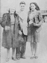 40's elegance August 1946 (vintage ladies) Tags: blackandwhite portrait people photograph photo vintage female woman lady man male women ladies smile smiling fur furcoat coat suit 40s 40slady 40sstyle 40swoman 40sgirl 40swomen 40sman