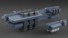 industrial_wip (noblebun) Tags: lego microscale spaceship spacecraft homeworld