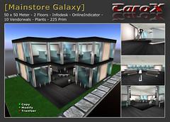 Mainstore Galaxy (Dmx_Slade) Tags: mainstore shop skybox firestorm secondlife prefab mesh prim house home vendor sale plants infodesk spot