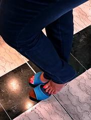 On my Blue Wooden Mules 05 (Mr Captain Morgan & La Capitana.) Tags: fetish feet foot soles heels sandals platforms clogs shoes mules slides shoeplay sexy pie pies zuecos solas mulas zapatos tacones füse fussohlen schuhe toeffler töffler holzclogs klox klogs kloks zoccoli rough cracked callous piede tacchi xsuole pieds talons tamancos sandalen sandalias dipping wrinkles dirty sandali scrunch scrunching toes highheels high wedge wedgies ankle chunky worn piedi wooden pedicure red shoeplaying milf cork smelly pantoletten calzado macrofotografía zapato
