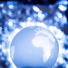 Our Blue Planet (chantalliekens) Tags: bokeh 50mm dogwood2017week47 dogwood2017 nikond810 stars things dogwood52 creative shapedbokeh technical world glass blue planet paperweight thingsweseedaily blueplanet