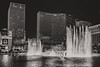 Bellagio Las Vegas (Amren1985) Tags: bellagio las vegas strip fountain fountains water parade music panasonic gx80 gx85 lumix 20mm 17 micr four thirds micro black white bw night photo large aperture gf1 panasonic20mmf17 monochrome