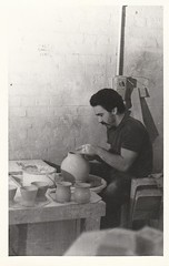 Coiln Lacrosse at work in his home pottery studio (chickpeaoz) Tags: australianpottery australianstudiopottery colinlacrosse nsw