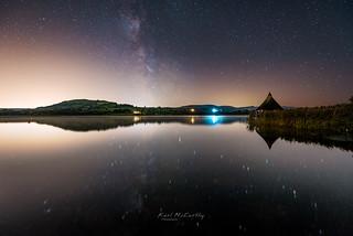 Starry Reflection at Llangorse Lake