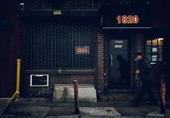 1820 (Darren LoPrinzi) Tags: philadelphia philly street streetphotography city urban man smoke smoking cigarette dark lowkey store storefront sign signs signage door window neon sidewalk
