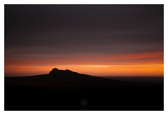 Silent Witness (picturedevon.co.uk) Tags: haytor dartmoor nationalpark devon sunrise color orange red black landscape rock sky clouds le longexposure outdoors travel silhouette morning winter minimal motion wwwpicturedevon