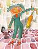 lucha de poderes seta raton contra el gato burlon (antonio santana SA) Tags: acuarela seta ratón ilustrador antoniosantana gato
