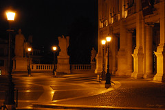 The most romantic spot in Rome (DameBoudicca) Tags: italy italien italia italie イタリア rome roma rom ローマ capitolinehill capitolium kapitol colinacapitolina lecapitole ilcampidoglio カンピドリオ piazzadelcampidoglio palazzonuovo square torg platz place plaza piazza 広場 evening kväll afton abend soir sera 夕 ゆう crepúsculo palazzo night natt nuit nacht notte noche 夜 よる