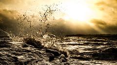 Storm of life (VanhalaK) Tags: sea storm olympus omd sky sun water