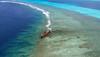 Shipwreck (Andy.Gocher) Tags: andygocher canon100d newcaledonia noumea reef sea phone water blue windowseat aeroplanewindow