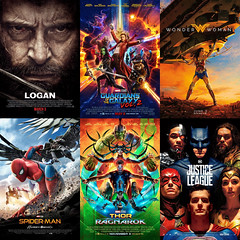 The Comicbook Movies of 2017 (AntMan3001) Tags: comicbook movies logan guardians galaxy vol 2 wonder woman spiderman homecoming thor ragnarok justice league