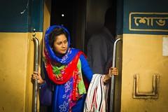 Wonderful Bangladeshi Lady (Trains In Tasmania) Tags: bangladesh dhaka station railway railwaystation kamlapur candid trainsintasmania stevebromley