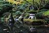 Reflections (lensofjon) Tags: oregon portlandor portland pdx lantern pond pool zen poetry moss green yellow