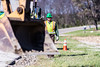 @20171121--D9 Maint-339 (OhioDOT) Tags: 9 district odot backhoe concrete culvert limestone pipe truck water workers