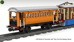 11. Henrietta (Railway Series) - 7-wide (with Toby) (wes_turngrate) Tags: lego model moc ldd henrietta toby railwayseries thomasthetankengine 7wide