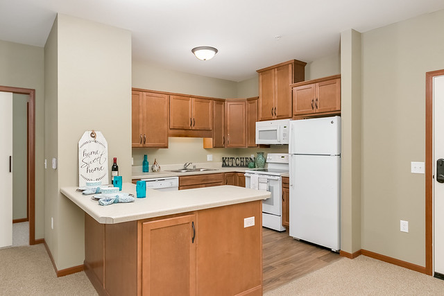Senior Living Apartment Kitchen