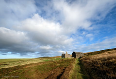 46 Remote (manxmaid2000) Tags: remote secluded farm house rural sky views barn bleak lonely moor heather lane path field landscape clouds moorland isleofman earycushlin iom manx countryside