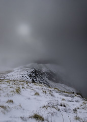 Blencathra on a misty morning (pedalpusher139) Tags: mist lakedistrict landscape snow fog moun mountains