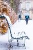 Banco nevado (María Bellet Fotografía) Tags: bench banco nevada nieve snow winter invierno frío cold lagranjadesanildefonso