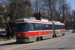 2014-04-17, Toronto, Queen Street at Connaught Avenue (Fototak) Tags: tram strassenbahn toronto ttc ontario canada streetcar ligne501 4240