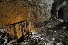 Berline (flallier) Tags: carrière souterraine craie underground chalk quarry berline wagonnet galerie tunnel souterrain