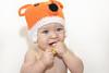 Zorrito@edu.valero (Instagram) (@edu.valero (Instagram)) Tags: hoja sheet bebe blanco white orange naranja eyes azules ojos diego zorro zorrito fox foxy blue baby child madrid espaãƒâ±a