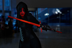 Montreal Minicon 2017_005 (Besisika) Tags: montreal mini comicon 2017 minicon palaisdecongres costume cosplay cosplayer starwars comic red darkside canon 85mm12 godox ad200 strobe flash indoor portrait lightsabre rimlight
