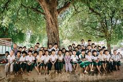 Under the Tree (Trent's Pics) Tags: monastic school palaik pariyatti under tree boy boys buddhist child children girl lifestyle mandalay monastery myanmar people spiritual students young