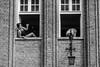 Window view (Dan_Vel) Tags: poland polska city gdansk pomerania pomorze streetphoto streetphotography streetphotographer monochrome monotone candid people