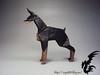 Doberman (Rydos) Tags: paper origami art hanji koreanpaper korean paperfold fold folding paperfolding designed design model papermodel korea origamilst parkjongwoo doberman park jong woo black bronze dog