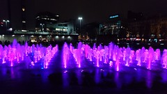Night time fountain (andreabailey50) Tags: night time fountain piccadilly gardens colours water manchester