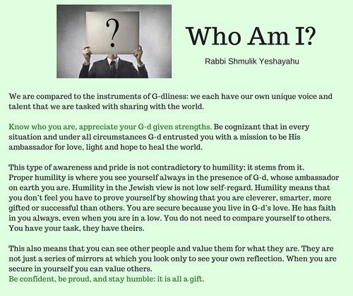 who am i answer