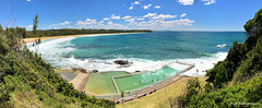Black Head Ocean Baths, Black Head Beach, Hallidays Point, NSW (Black Diamond Images) Tags: blackheadoceanbaths blackheadbeach hallidayspoint nsw midnorthcoast australianbeaches beach iphone appleiphone7plus iphone7plus panorama iphonepanorama coastallandscape landscape beachlandscape coast coastline redhead waves cupaniopsisanacardioides tuckeroo banksiaintegrifoliasubspintegrifolia swimmingpool nswoceanbaths oceanbaths baths pool ocean sea bay water tree sky grass forest