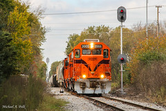 CSS 2005 @ Stilwell, IN (Michael Polk) Tags: chicago south shore bend railroad emd gp382 2005 af2 nickel plate indianapolis michigan city la porte stilwell salem heights nkp kil freight train signals