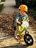 1108 (StriderBikes) Tags: 12 2017 245 boy crocs excited green helmet numberplate october photocontestentry sidewalk smile sport suburbs leaves spearfish southdakota unitedstates us